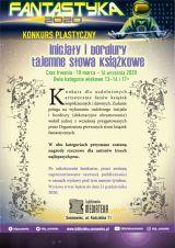 """Plakat promujący konkurs """"Inicjały i bordiury"""""""