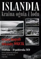 Plakat - wystawa Islandia