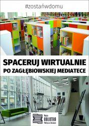 Plakat reklamujący wirtualny spacer po Mediatece